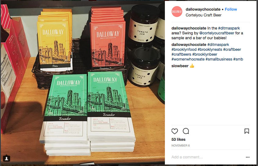 Dalloway Chocolate Instagram
