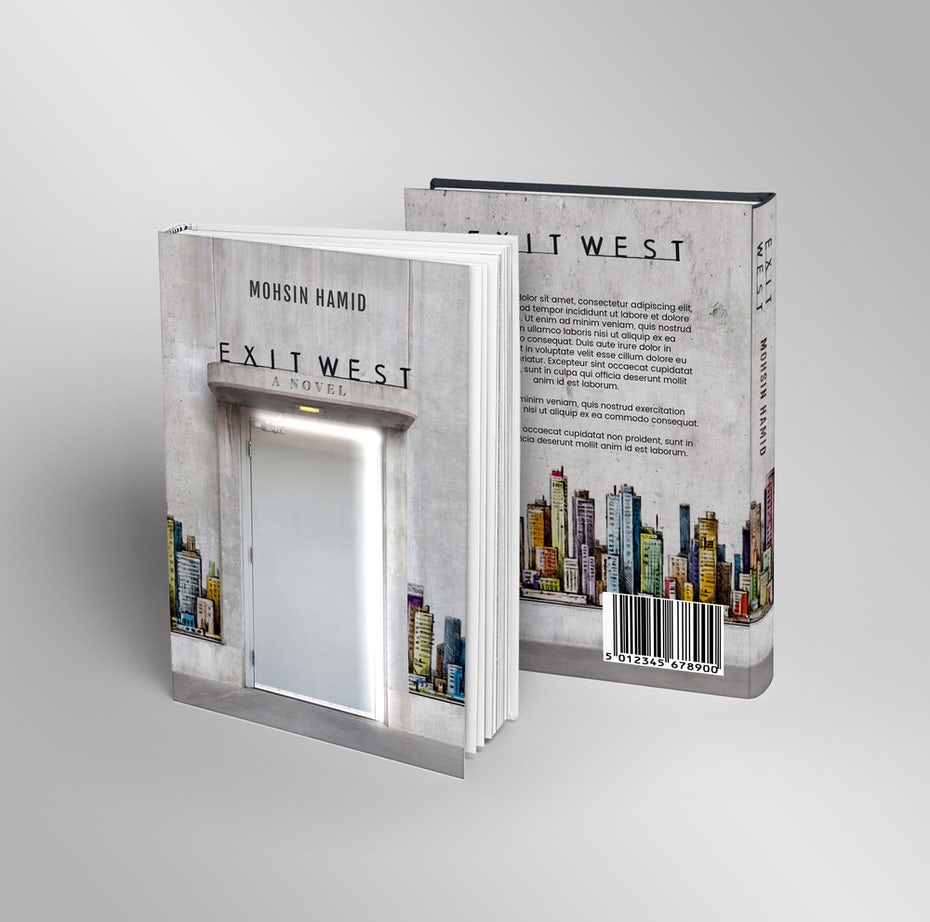 """Exit West: A Novel"" redesigned"