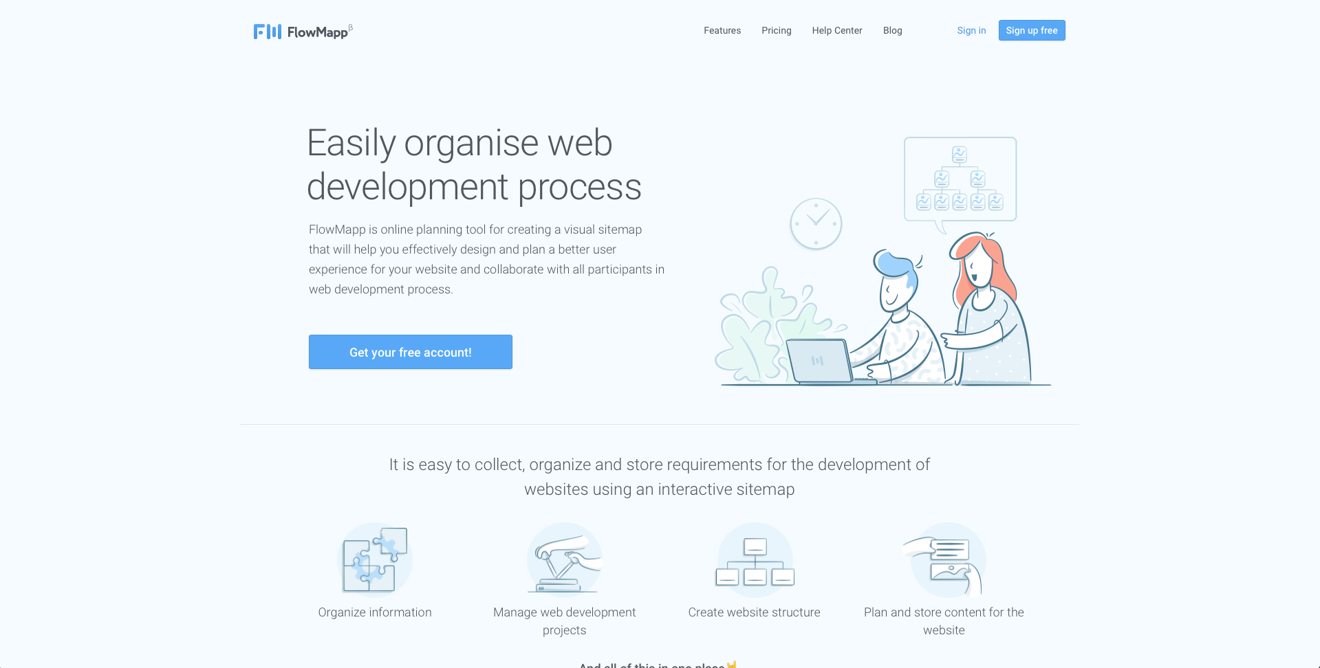 An image of flowmapp.com's illustrated header