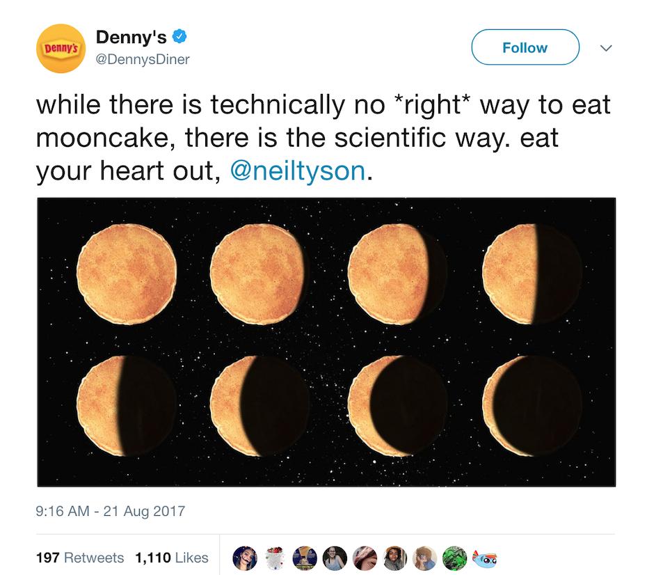 Denny's Twitter post