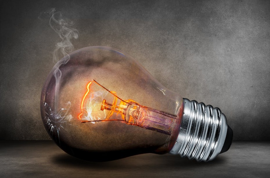 Smoking lightbulb