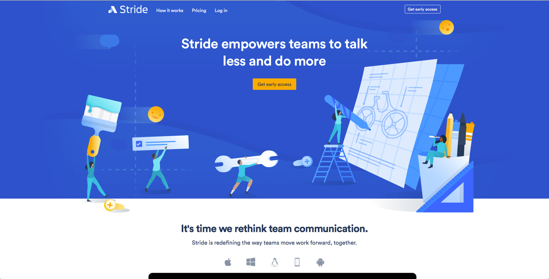 An image of Stride.com's illustrated header