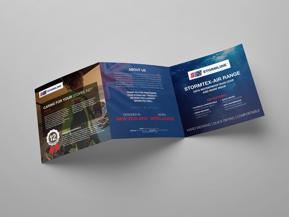 Z Fold brochure design