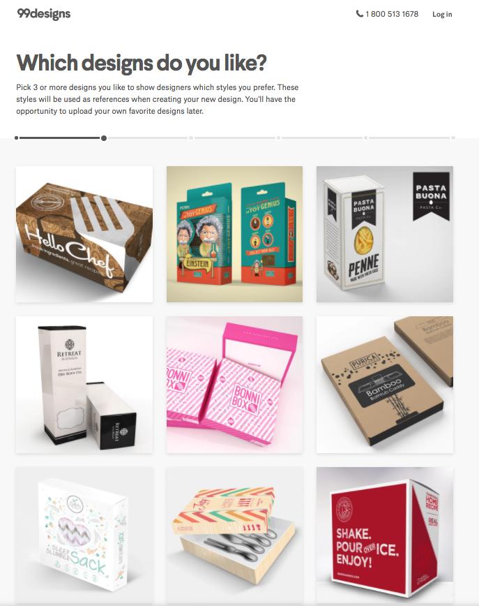 99designs visual brief