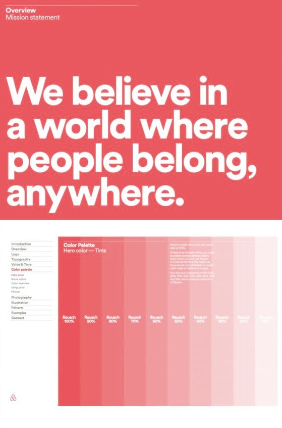 AIRBNB brand style guide by DesignStudio