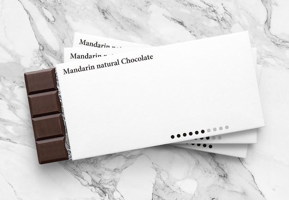 Minimalist chocolate bar design