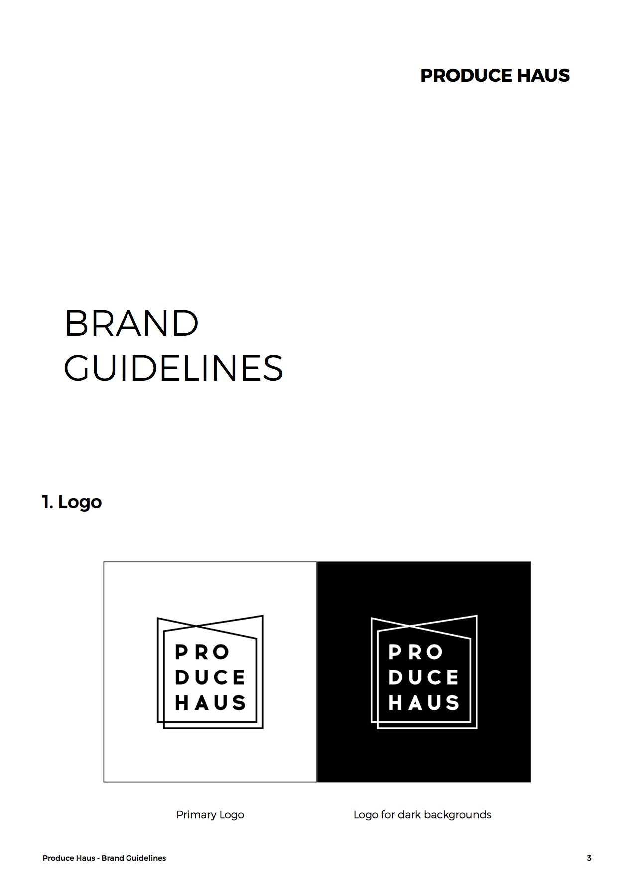 PRODUCE HAUS brand style guide