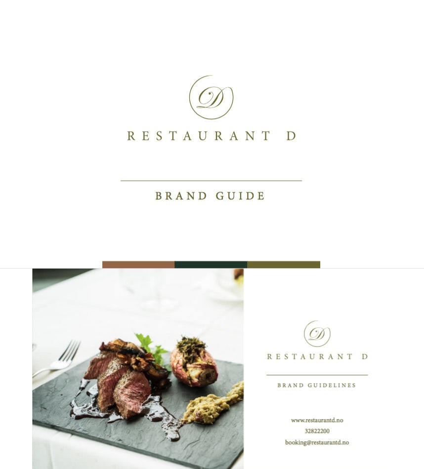 RESTAURANT D brand style guide