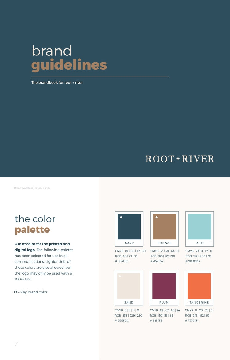 Root + River brand style guide