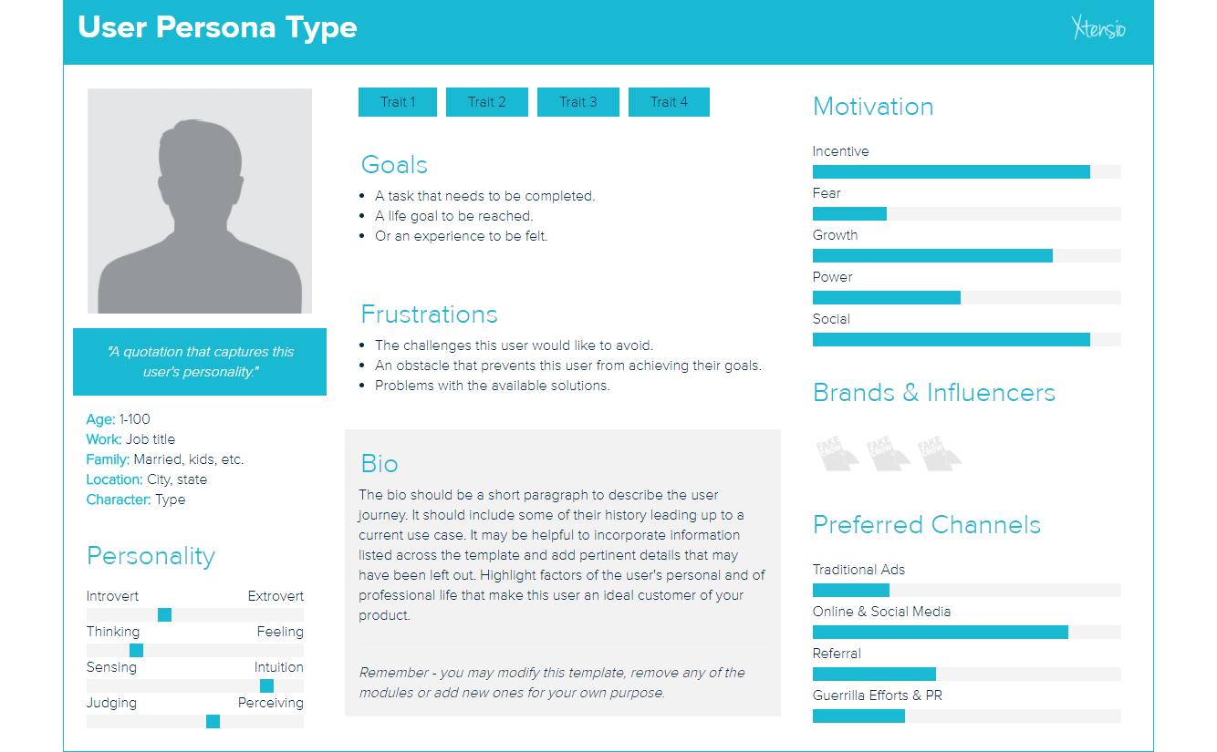 Marketing persona blank template