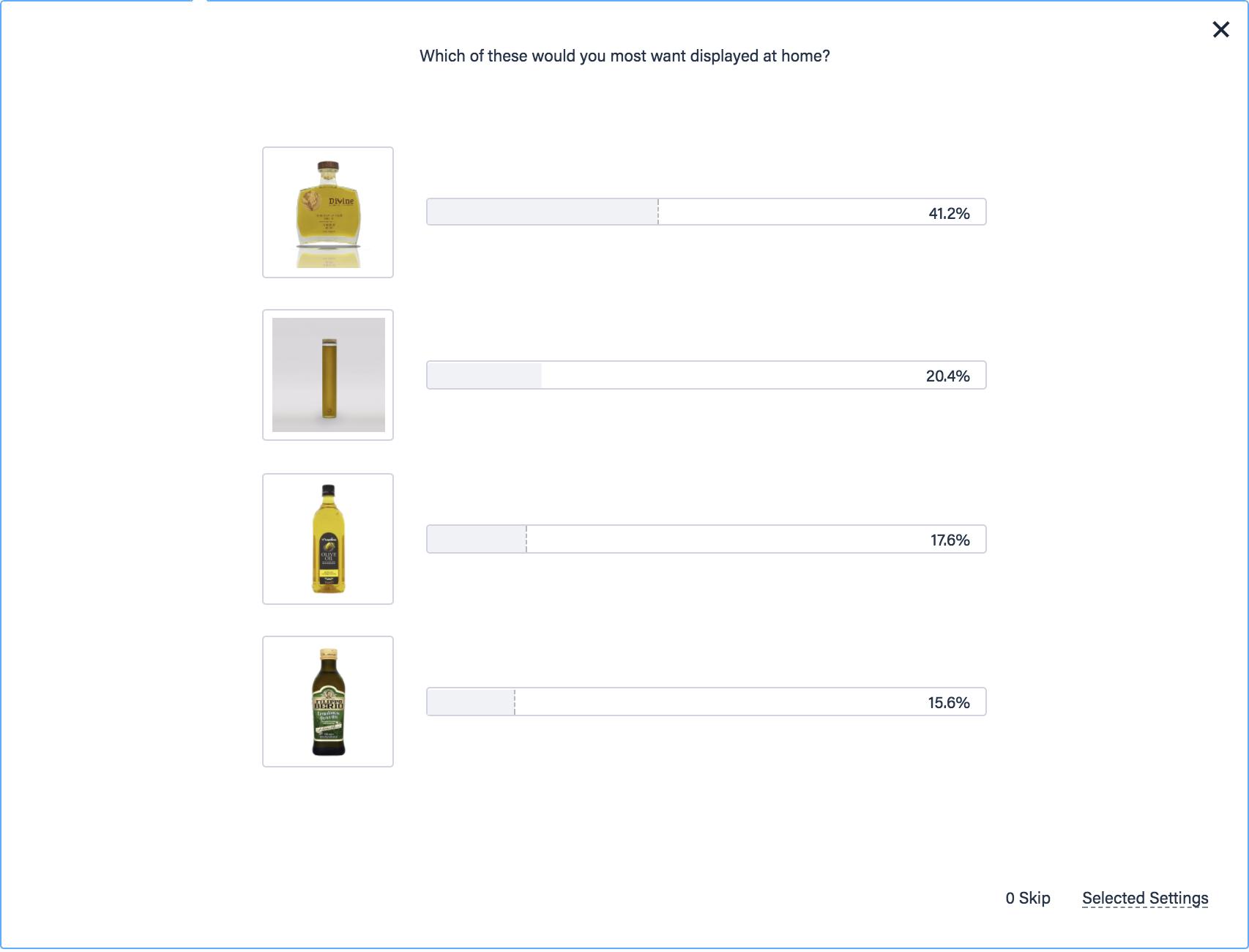 Survey results of olive oil preferences