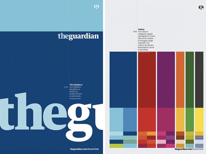 THE GUARDIAN brand style guide