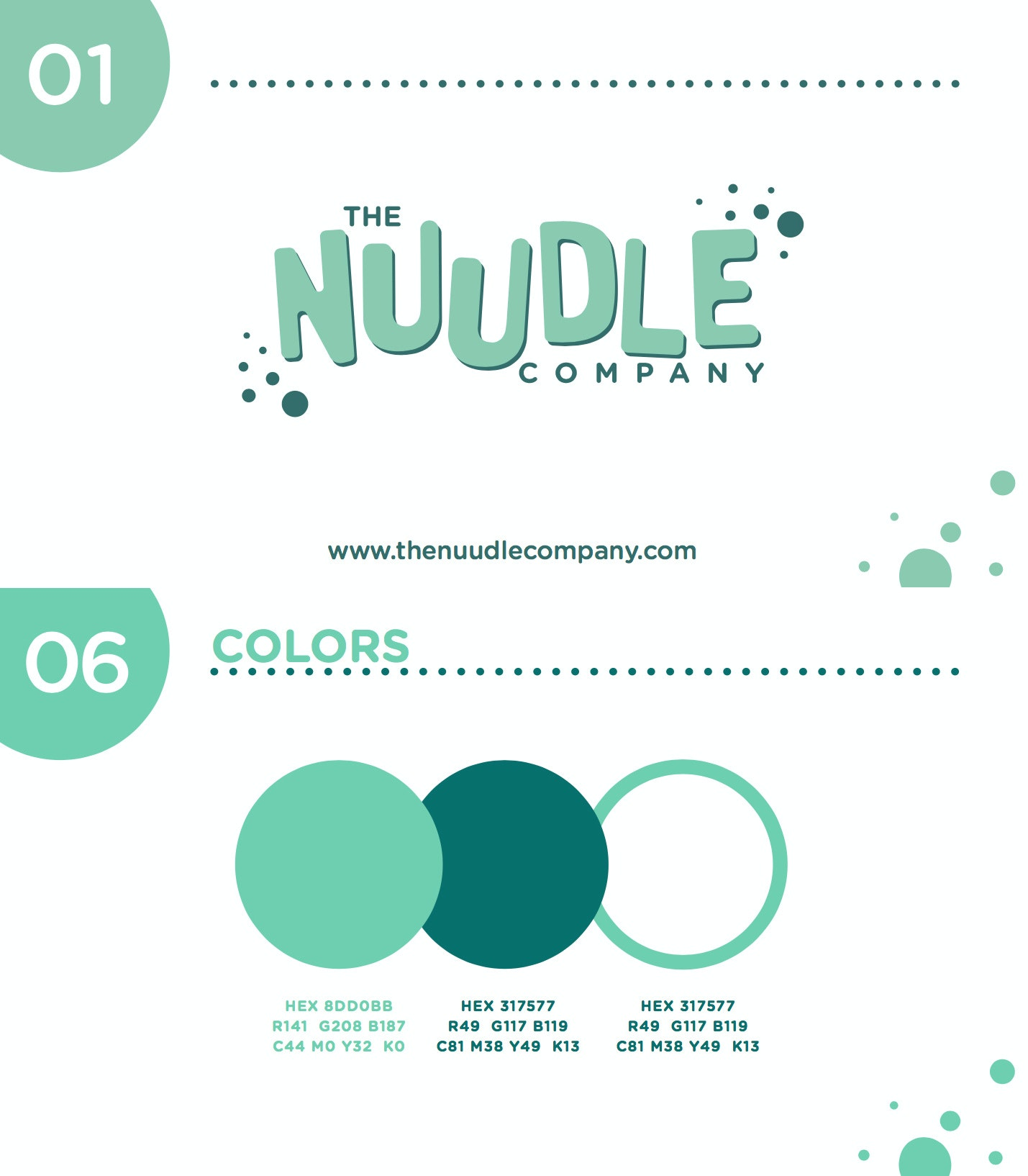THE NUUDLE COMPANY brand style guide