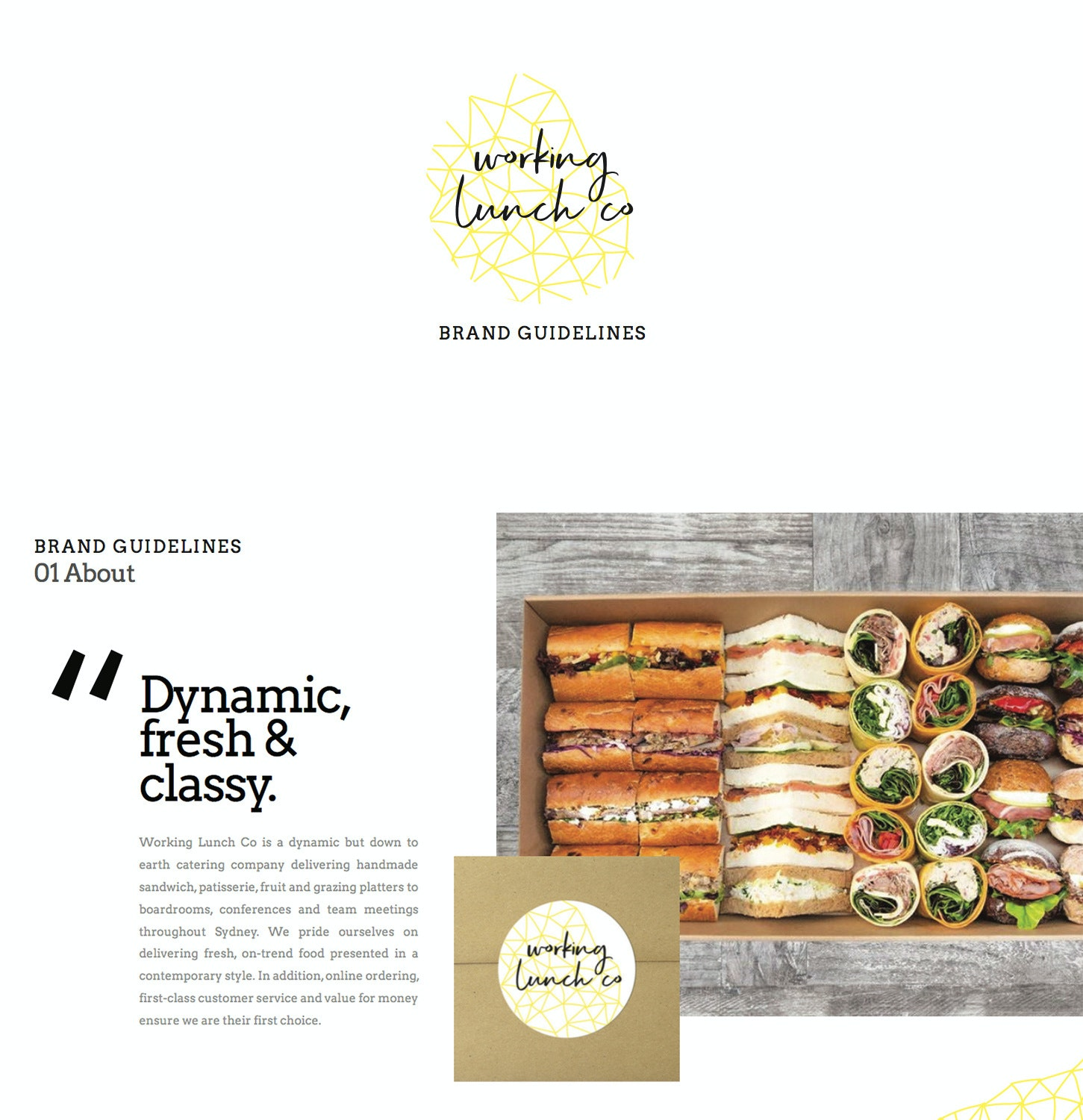 WORKING LUNCH CO. brand style guide