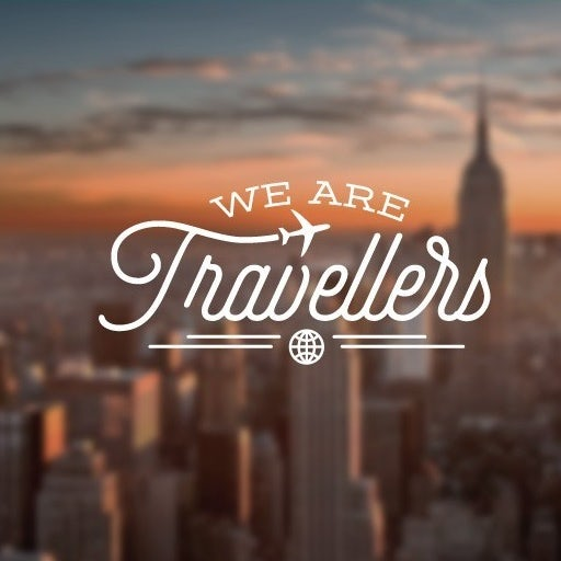 Flat minimal design Logo for a Travel website