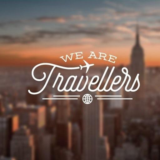 Flat minimal design Logo for a Travel website