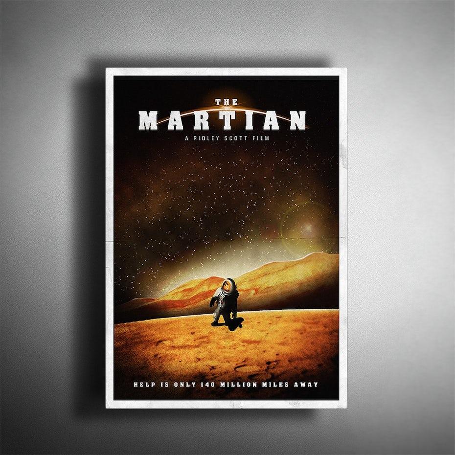 Martian film poster