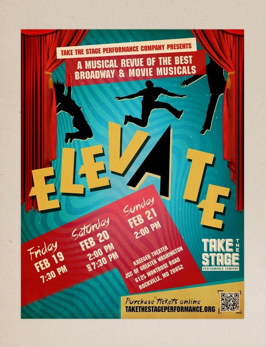 This Fun And Funky Poster Design Is Perfect For Its Audience Of Musical Theater Nerds Like Myself By Tale026 Elevate
