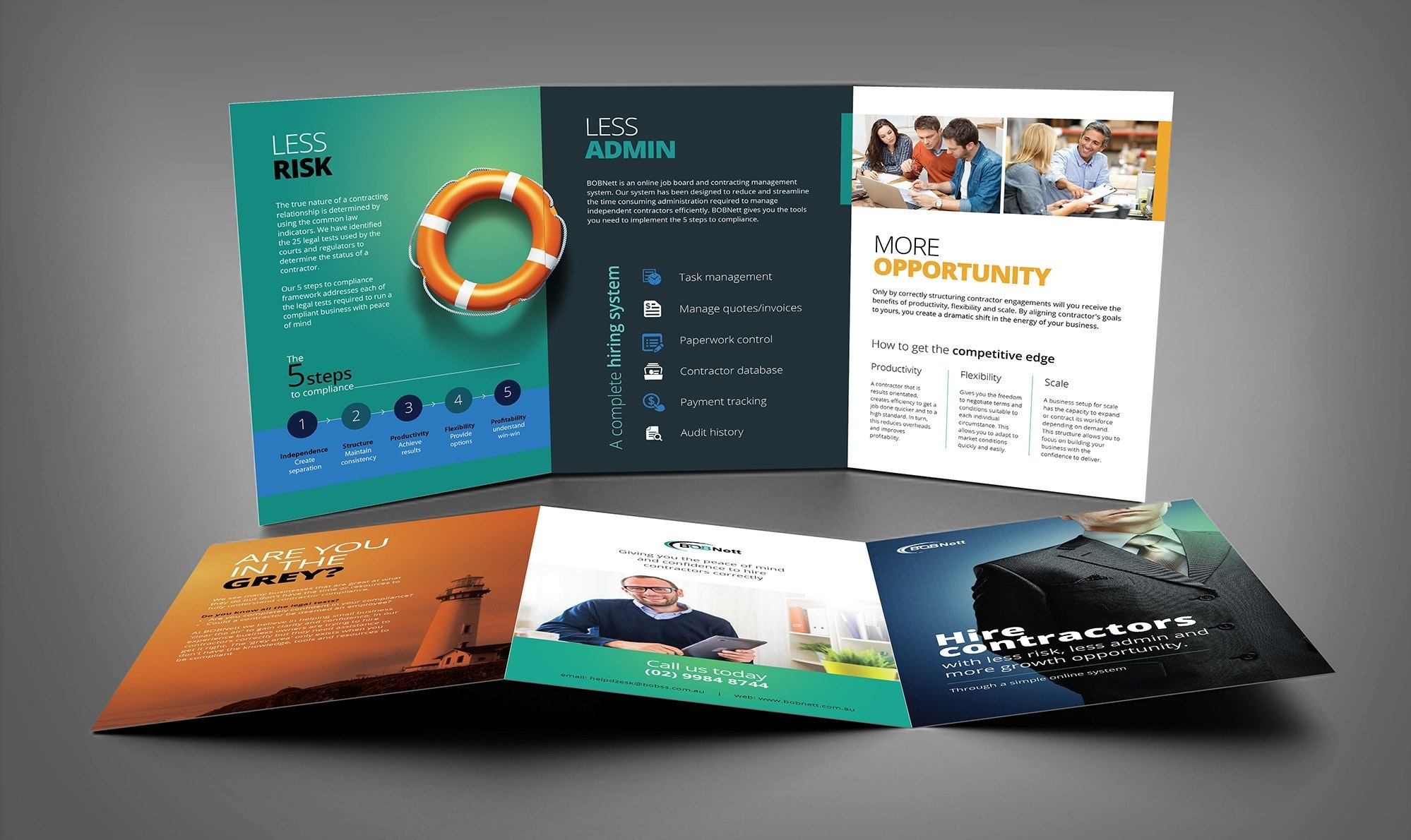bright and professional brochure design