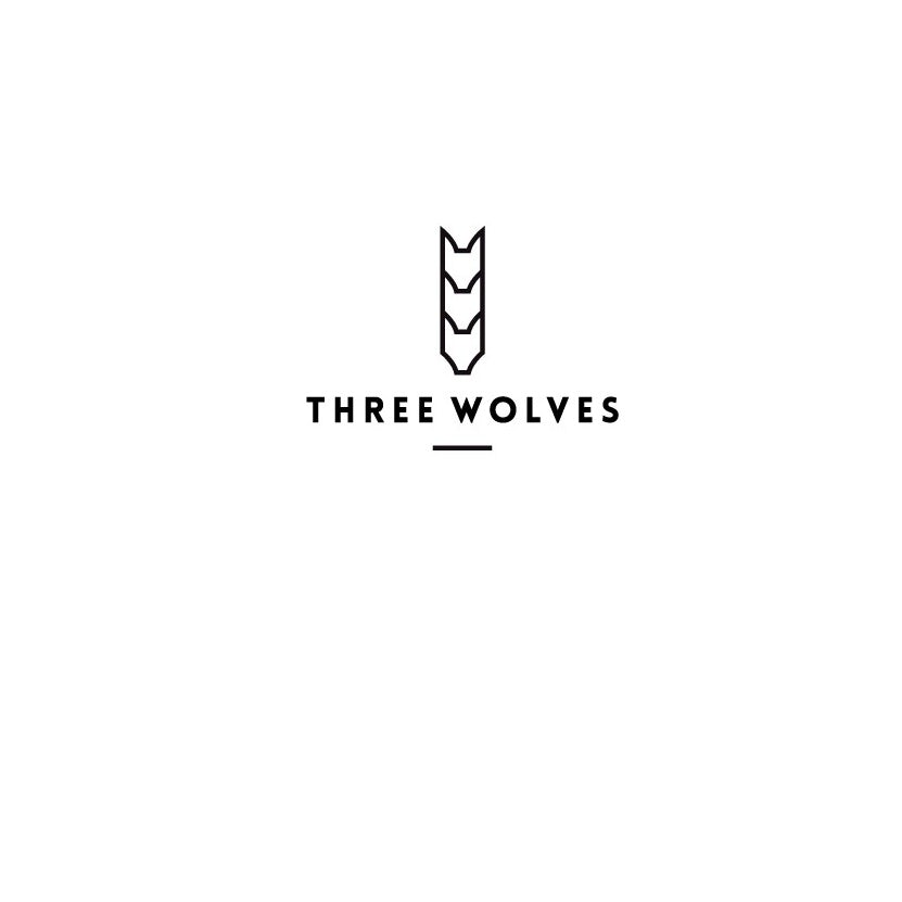 Logo with wolf line drawing