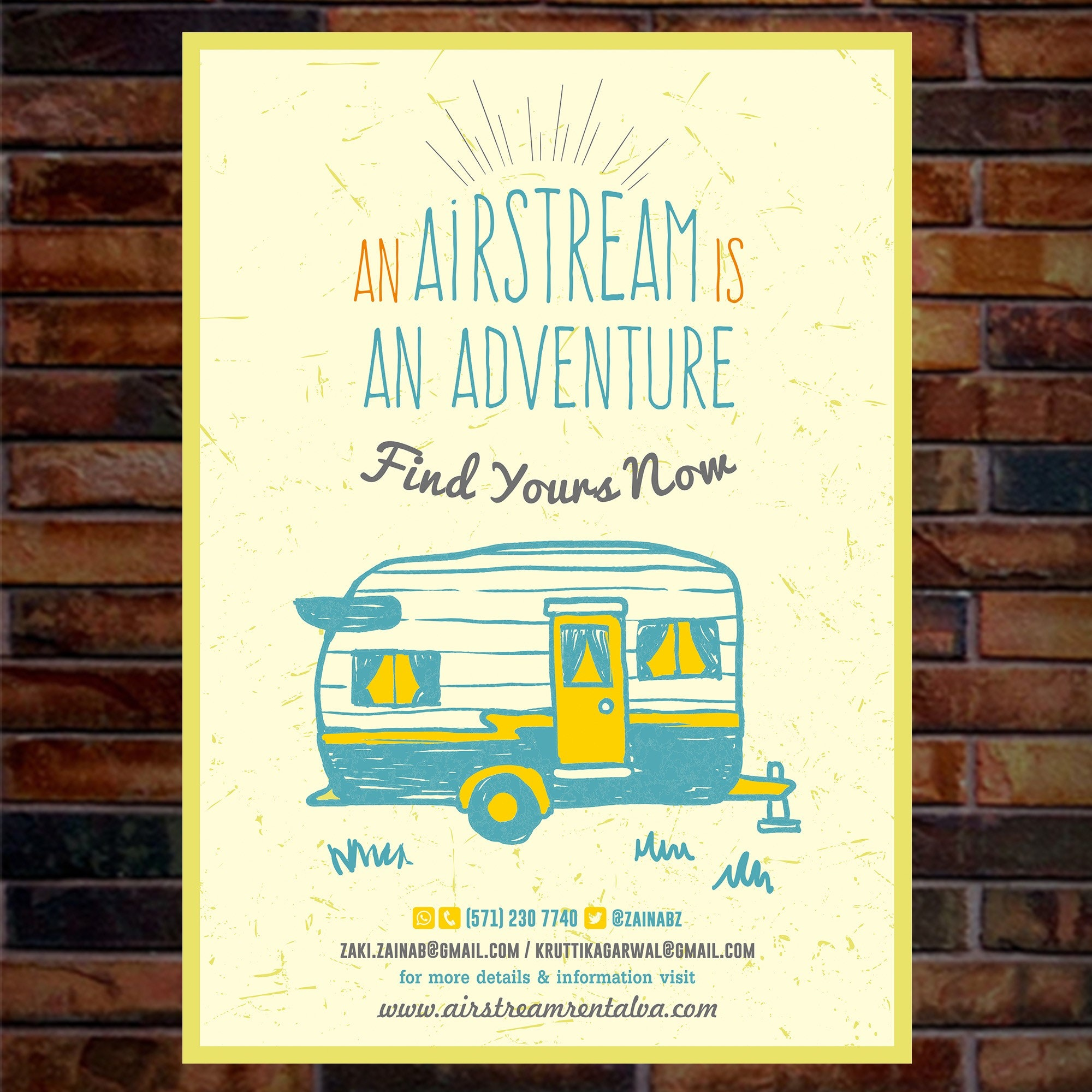 Airstream Rental VA poster