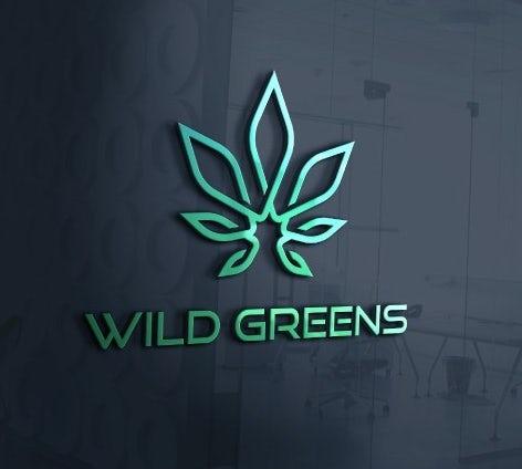 Futuristic cannabis logo design