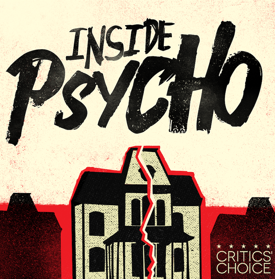 artistic podcast cover for inside psycho