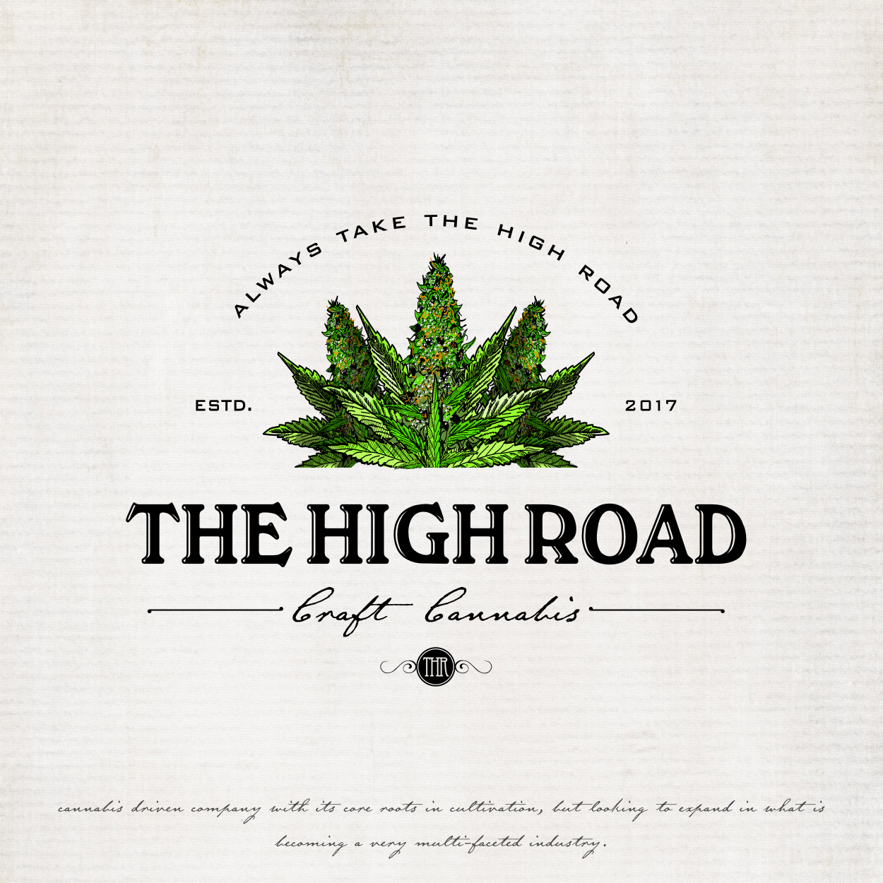 Cannabis logo design for The High Road