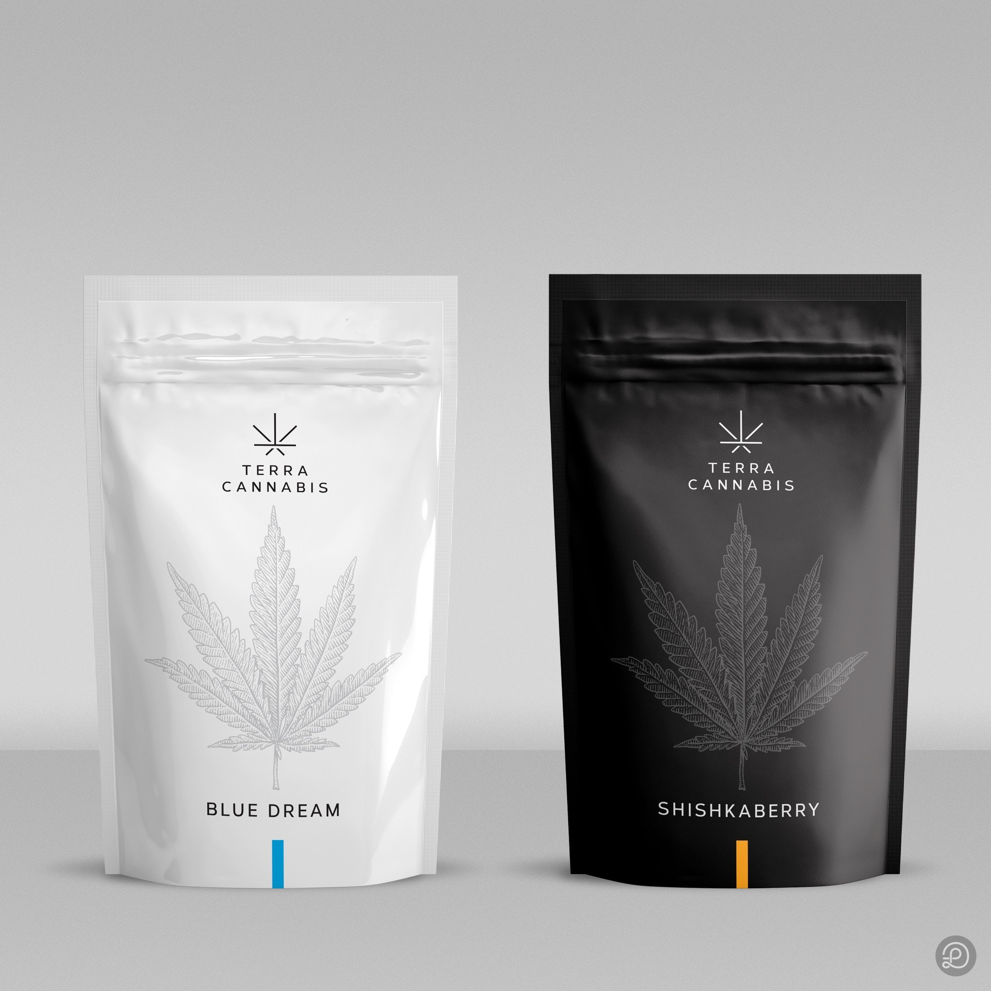 Minimalistic cannabis packaging design