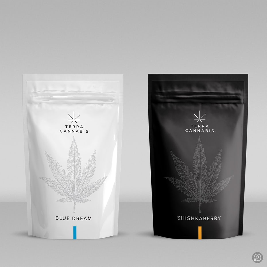 Minimalistic cannabis packaging design