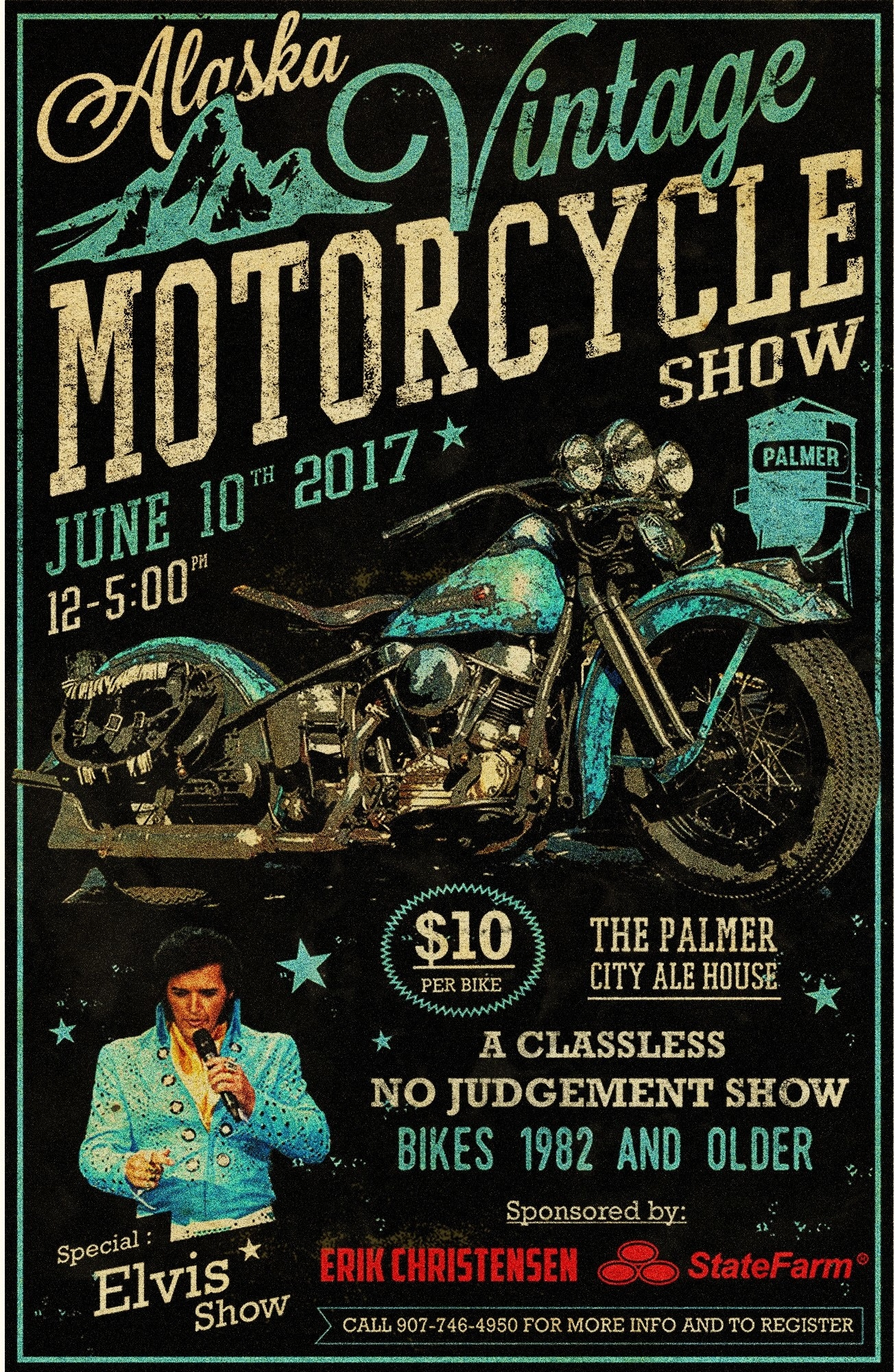 vintage motocycle poster