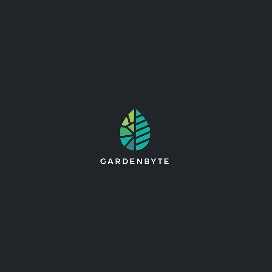 Modern leaf logo