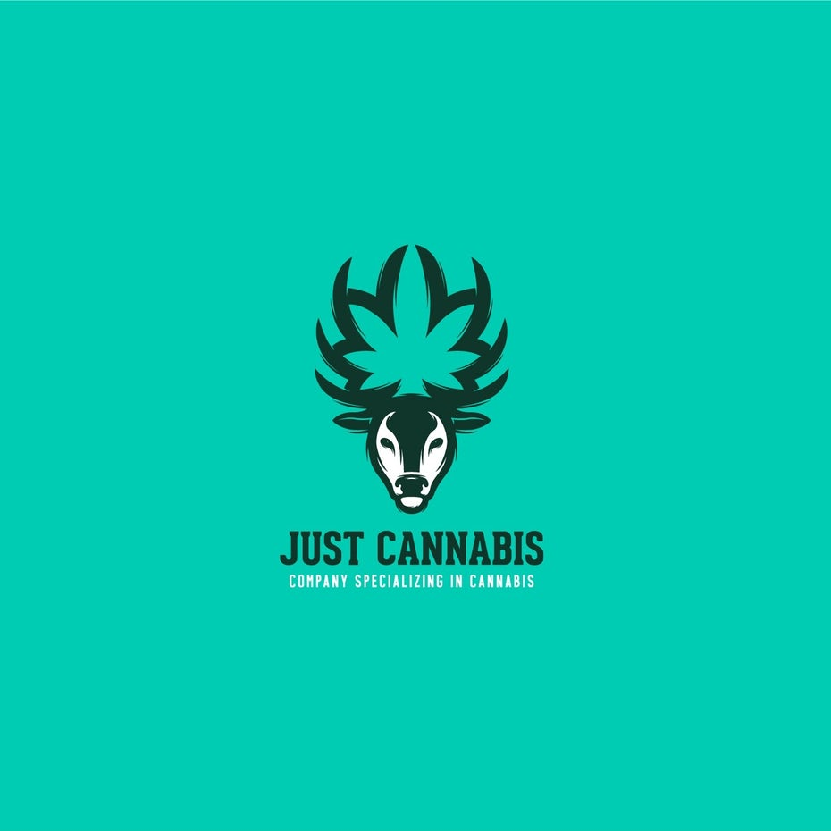 Colorful cannabis logo design
