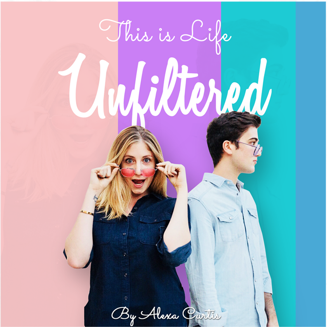 podcast cover for this is life unfiltered