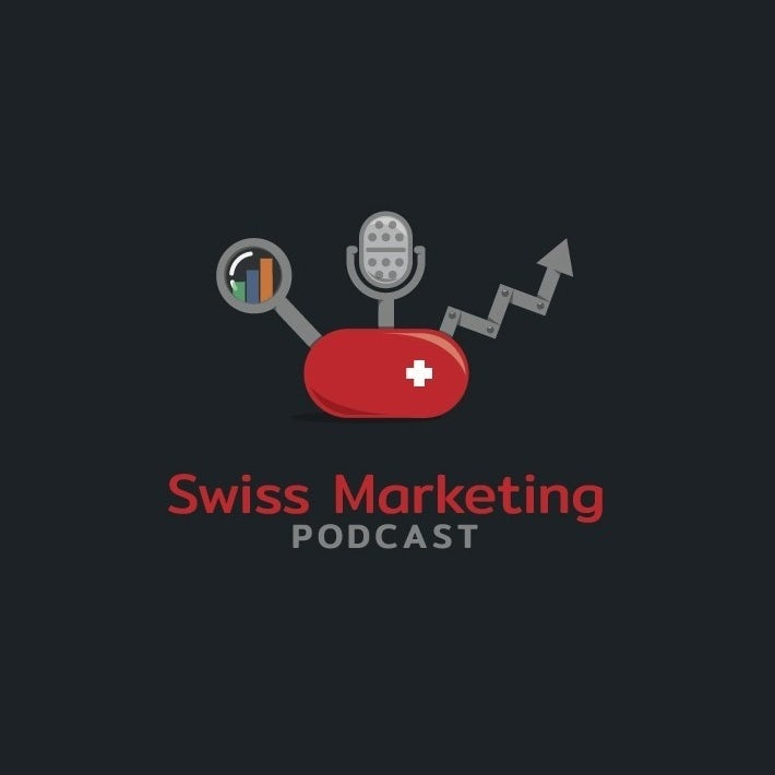 podcast cover art for swiss marketing podcast