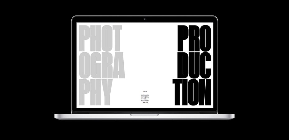 Photography Production website