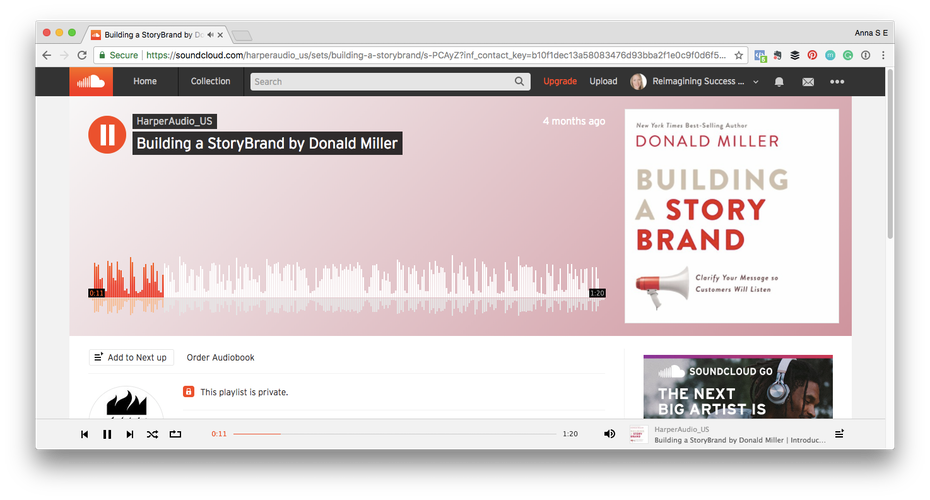 Building a Storybrand by Donald Miller podcast episode on SoundCloud