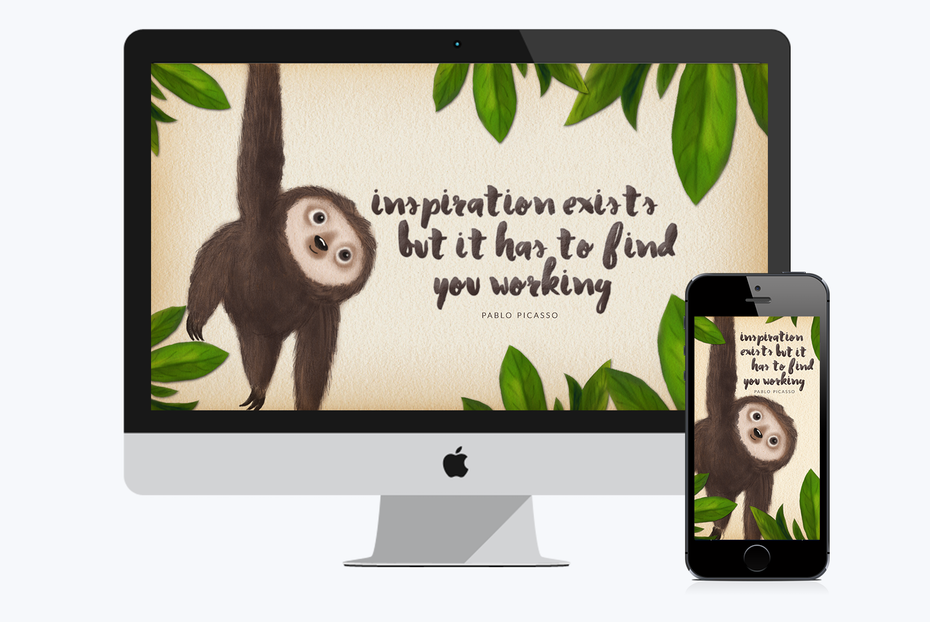 inspirational sloth desktop background