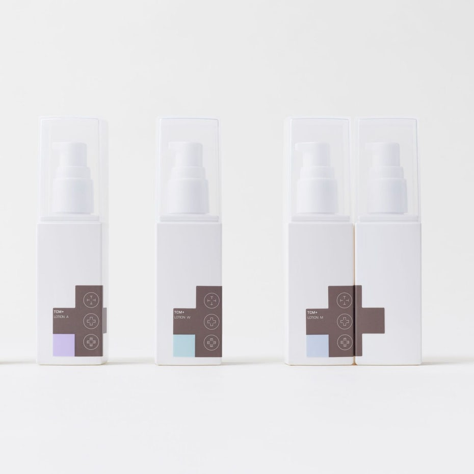 Minimalist skincare packaging