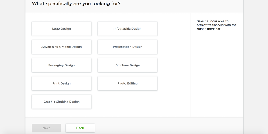 upwork graphic design options