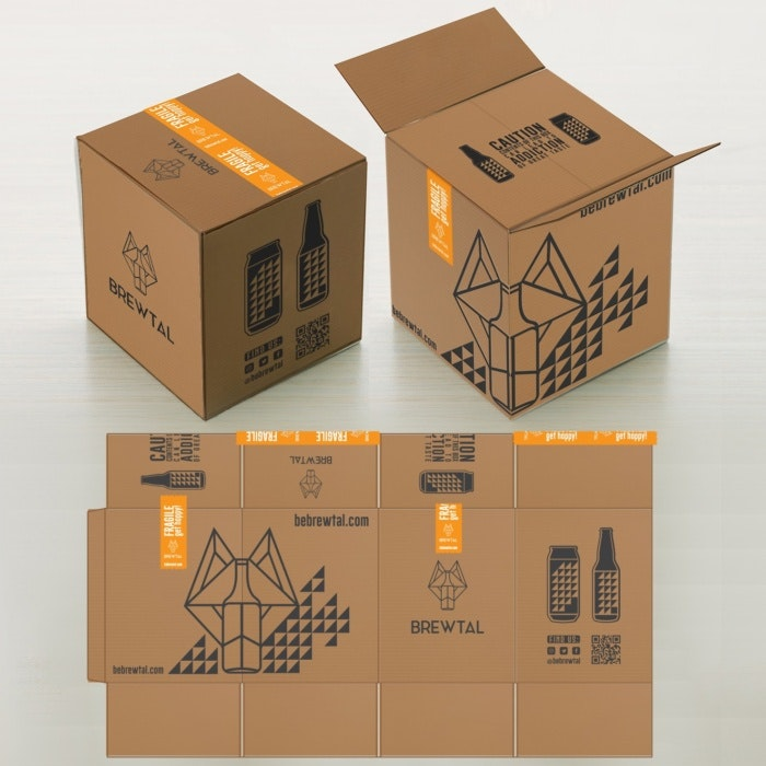 modern card board box design