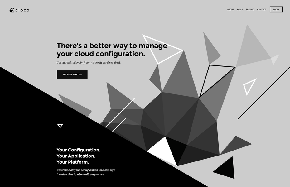 grey and black web design