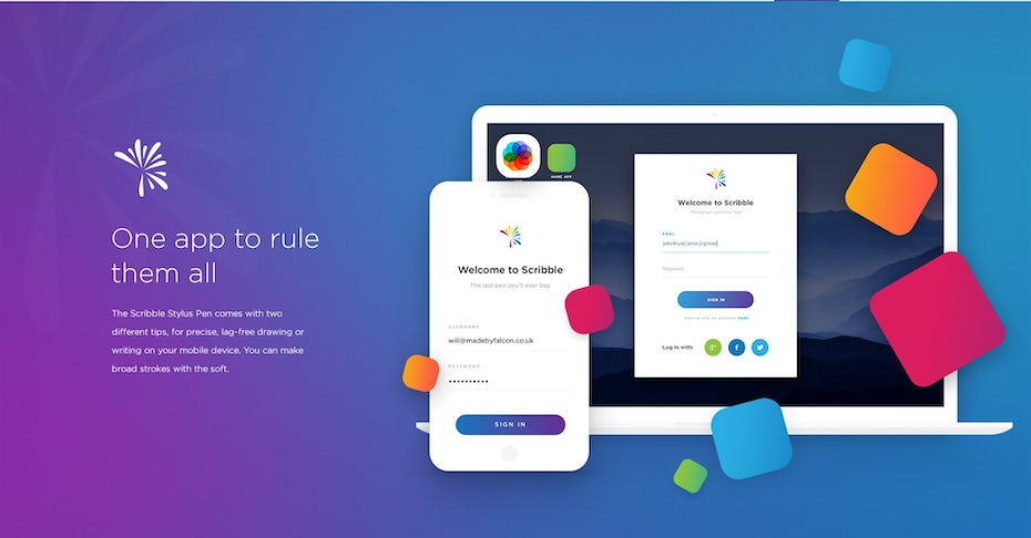 multicolored web design