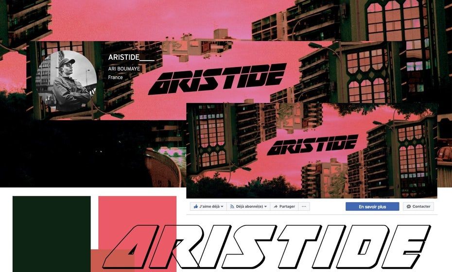 Brutalist visual identity for Artside