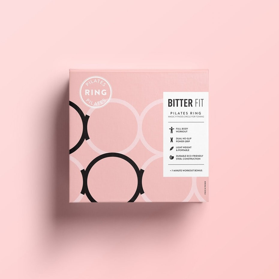 Minimal and modern packaging for pilates ring