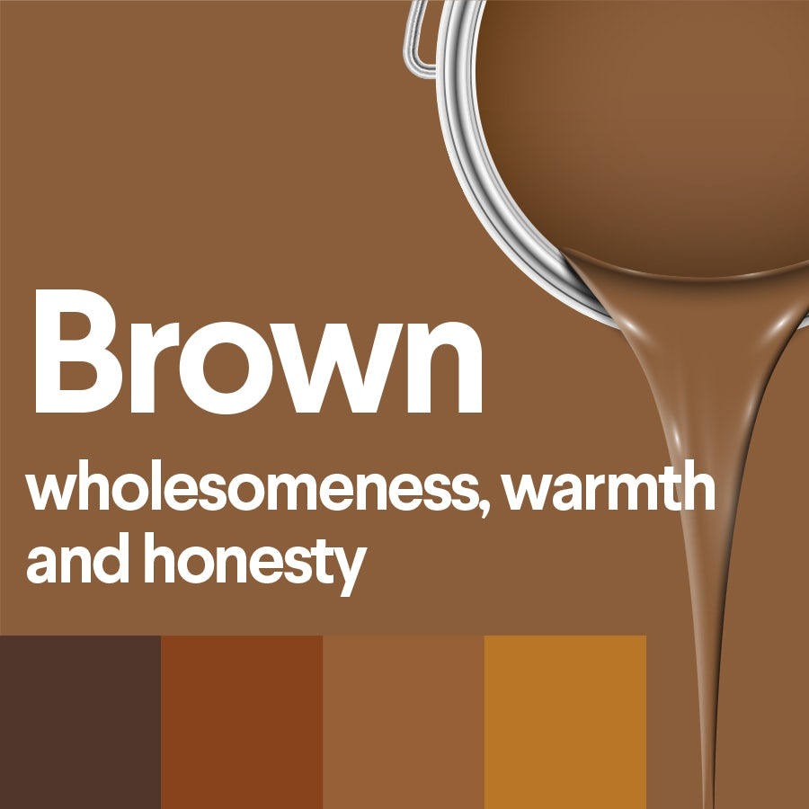 what does brown mean: color psychology of brown