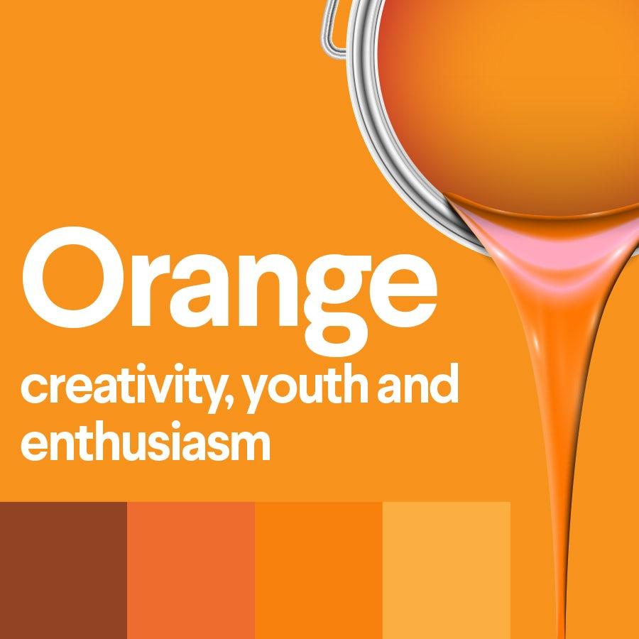 what does orange mean: color psychology of orange