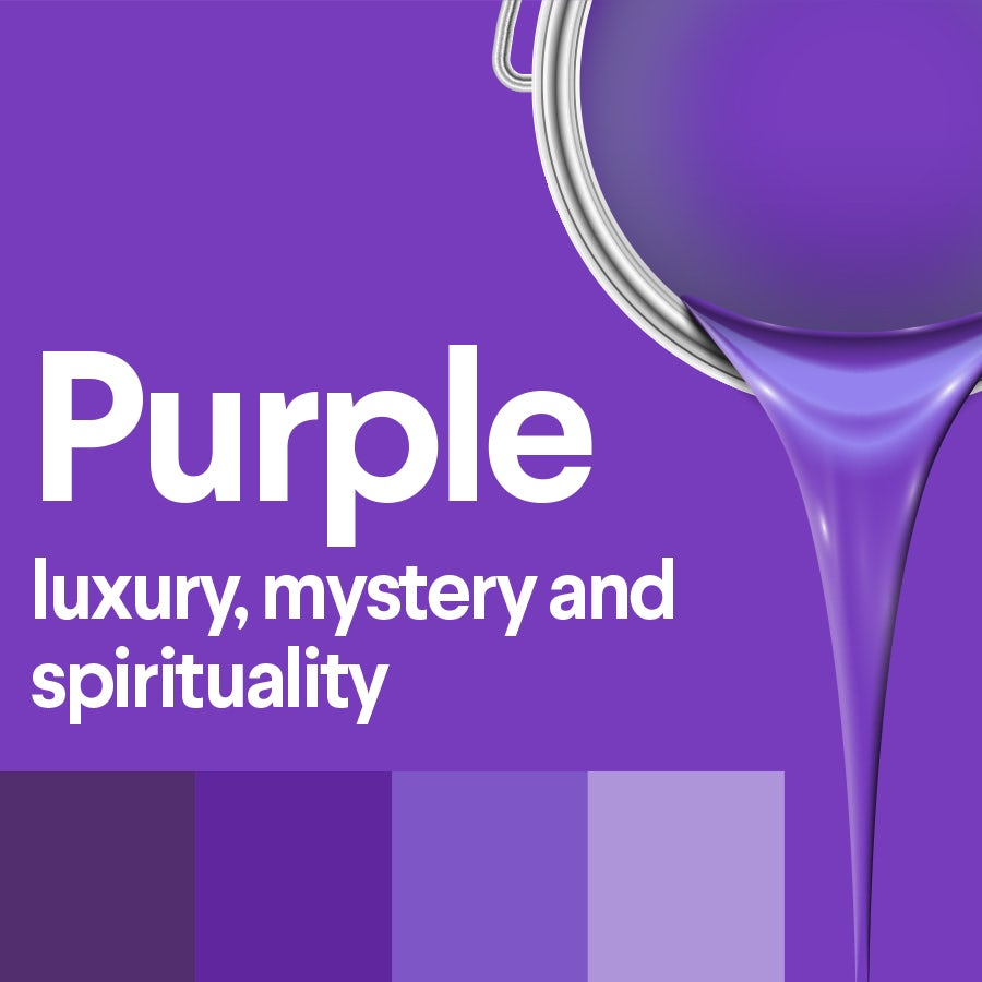 what does purple mean: color psychology of purple