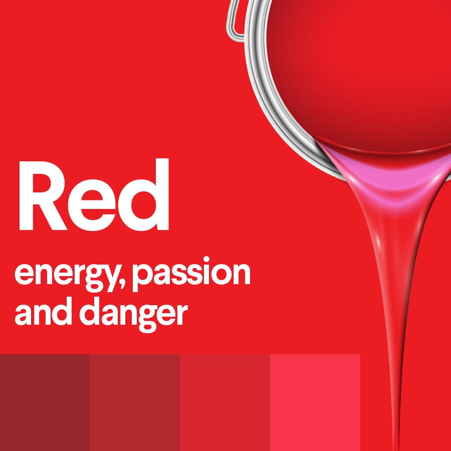 what does red mean: color psychology of red