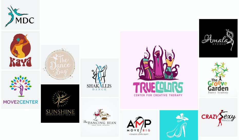 41 Tanz-Logos, die dich das Tanzbein schwingen lassen